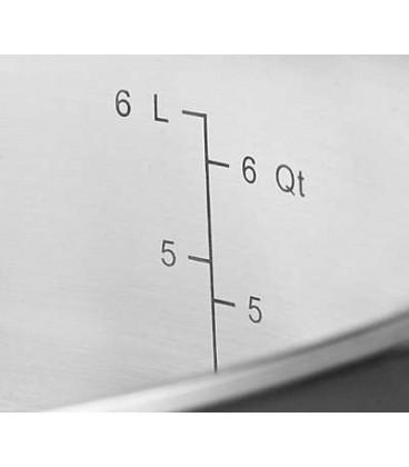 Кастрюля с крышкой KitchenAid.5.68 л 5 слоёв KC2C60LCST
