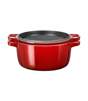 Кастрюля чугунная красная 3.8 л KitchenAid KCPI40CRER