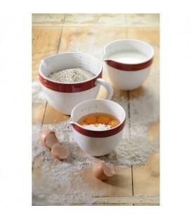Набор керамических чаш круглых красный KitchenAid KBLR03NBER