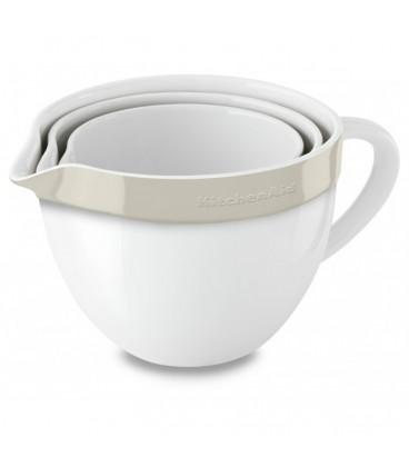 Набор керамических чаш круглых кремовый KitchenAid KBLR03NBAC