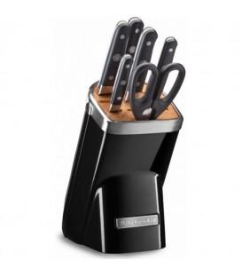 Набор ножей 7 предметов чёрный KitchenAid KKFMA07OB
