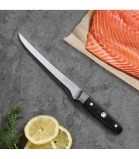 Нож филейный гибкий 18 см KitchenAid KKFTR7FLWM