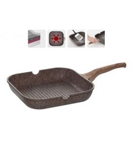 Сковорода-гриль с антипригарным покрытием, 28х28 см