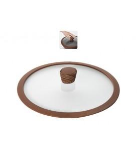 Стеклянная крышка с силиконовым ободом NADOBA Greta 28 см 751311