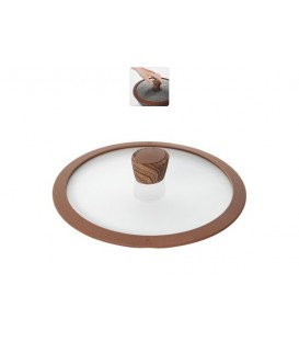 Стеклянная крышка с силиконовым ободом NADOBA Greta 24 см 751313