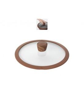 Стеклянная крышка с силиконовым ободом Gréta 24 см