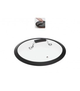 Стеклянная крышка с силиконовым ободом LOTA 26 см
