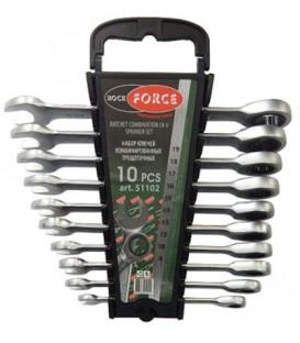 Набор ключей комбинированных ROCK FORCE 10пр. RF-51102 трещоточных 8-19мм (пластик. держатель)