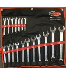 Набор ключей комбинированных ROCK FORCE 18пр. RF-5181: 8-32мм (на полотне)