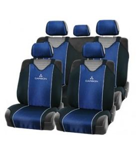 """Чехлы на сиденье AUTOPROFI CARBON CRB-802 BLUE """"майка"""" (9шт)"""