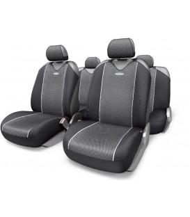 """Чехлы на сиденье AUTOPROFI CARBON CRB-802 GREY """"майка"""" (9шт)"""