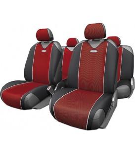"""Чехлы на сиденье AUTOPROFI CARBON CRB-802 RED """"майка"""" (9шт)"""