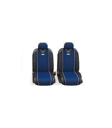 Чехлы на сиденье AUTOPROFI CARBON PLUS CRB-402Pf BLACK/BLUE передние (майка) (4шт)
