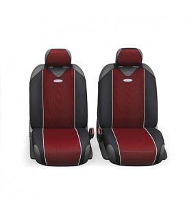 Чехлы на сиденье AUTOPROFI CARBON PLUS CRB-402Pf BLACK/RED передние (майка) (4шт)