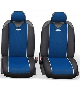 "Чехлы на сиденье AUTOPROFI CARBON PLUS Zipper CRB-902PZ BLACK/BLUE""майка"" 9шт"