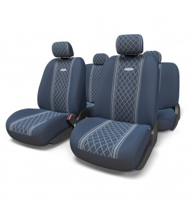 Чехлы на сиденье AUTOPROFI COBELEN GOB-1105 BLUE/ROMB (M) 11шт