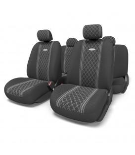 Чехлы на сиденье AUTOPROFI COBELEN GOB-1105 GREY/ROMB (M) жаккард (11шт)