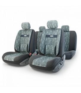 Чехлы на сиденье AUTOPROFI COMFORT COM-1105 Cyclone (M) с ортопедической поддержкой, велюр/жаккард полипропилен (11шт)