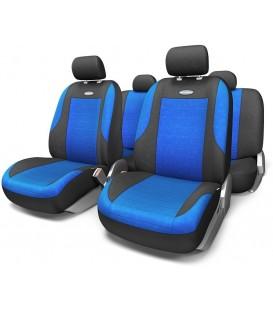 Чехлы на сиденье AUTOPROFI EVOLUTION EVO-1105 BLACK/BLUE велюр (11шт)