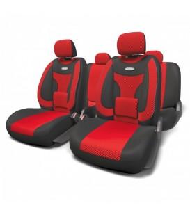 Чехлы на сиденье AUTOPROFI EXTRA COMFORT ECO-1105 BLACK/RED велюр (11шт)