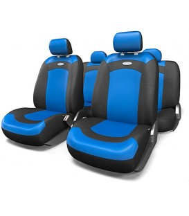 Чехлы на сиденье AUTOPROFI EXTREME XTR-803 BLACK/BLUE велюр сетка (8шт)