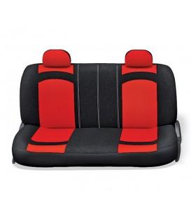 Чехлы на сиденье AUTOPROFI EXTREME XTR-803 BLACK/RED велюр сетка 8шт
