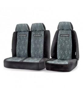 Чехлы на сиденье AUTOPROFI GAZ-002 BLACK/GREY передние жаккард (1+2)