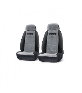 Чехлы на сиденье AUTOPROFI GAZ-001 BLACK/GREY передние (1+2)