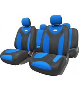 Чехлы на сиденье AUTOPROFI MATRIX MTX-1105 BLACK/BLUE (S)