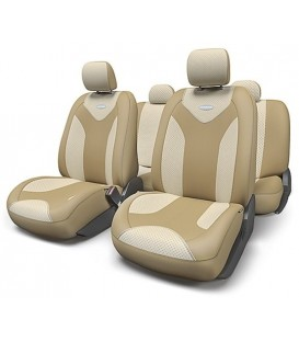 Чехлы на сиденье AUTOPROFI MATRIX MTX-1105 DARK BEIGE/LIGHT BEIGE (S)