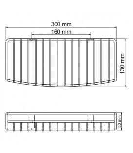 Полка металлическая прямая Wasserkraft K-1811