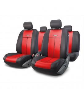 Чехлы на сиденье AUTOPROFI TT-902P BLACK/RED AIRBAG