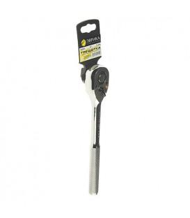 Трещотка с прямой металлической рифлёной ручкой ЭВРИКА ER-91272