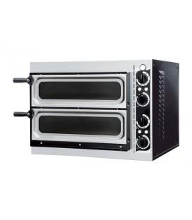 Печь для пиццы электрическая GEMLUX GEP 2/40 VETRO