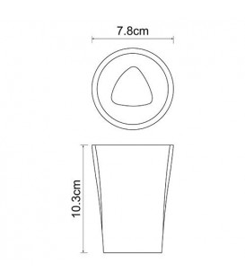 Стакан для зубных щеток WasserKRAFT Ohre K-37728