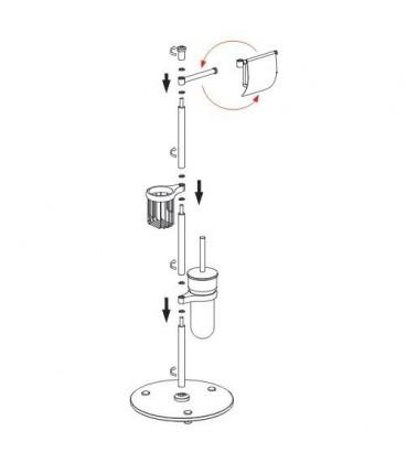 Комбинированная настенная стойка WasserKRAFT K-1246