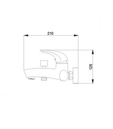 Смеситель для ванны однорычажный Raiber ZENTA R9004