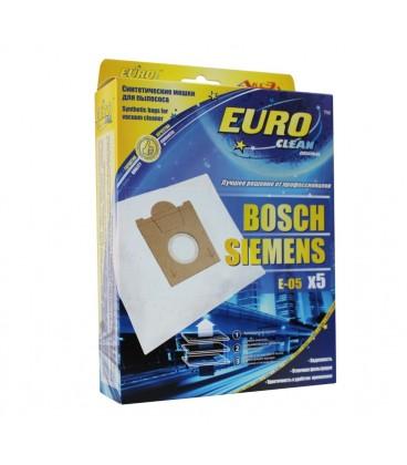 Euro clean E-05 оригинальные синтетические мешки-пылесборники 5 шт.