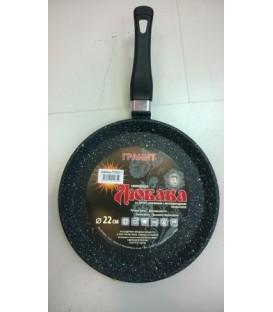 Сковорода блинная d 22 см LUBAVA ТГ22сб