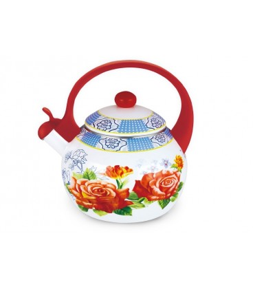 Чайник наплитный (эмаль) LARA LR00-20 RED