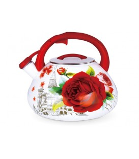 Чайник наплитный (эмаль) LARA LR00-23 ROSE