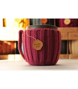 Вязаная кружка HAPPY DAY Розовый чай
