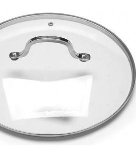 Крышка стеклянная с металлическим ободом 19674