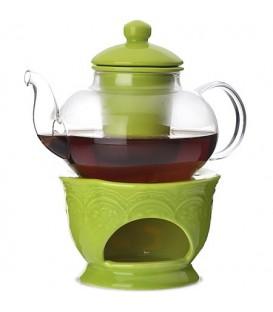 Чайник заварочный с подогревом Lorain 0,6л стекло 27564