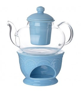 Чайник заварочный с подогревом Lorain 0,6л стекло 27567