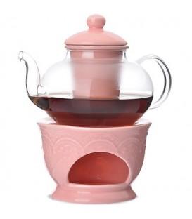 Чайник заварочный с подогревом Lorain 0,6л стекло 27566
