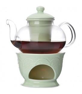 Чайник заварочный с подогревом Lorain 0,6л стекло 27565
