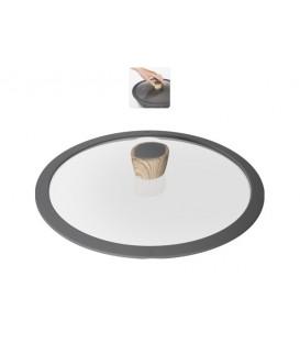 Стеклянная крышка с силиконовым ободом MINERALICA NADOBA 28 см