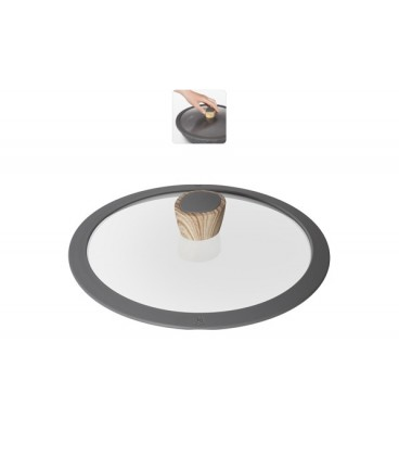 Стеклянная крышка с силиконовым ободом MINERALICA 24 см
