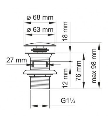 A047 Донный клапан Push-up